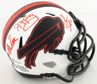 Andre Reed, Thurman Thomas, & Jim Kelly Signed Bills Lunar Eclipse Alternate Speed Mini Helmet (Beckett COA) at PristineAuction.com