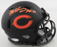 "Mike Singletary Signed Bears Eclipse Alternate Speed Mini Helmet Inscribed ""HOF 98"" (Beckett COA) at PristineAuction.com"