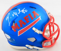 Eric Moulds Signed Bills Speed Mini Helmet (Beckett COA) at PristineAuction.com