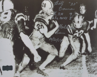 """Billy Cannon Signed LSU Tigers 8x10 Photo Inscribed """"L.S.U 7 Ole Miss 3"""" & """"Halloween Run"""" (Radtke COA) at PristineAuction.com"""