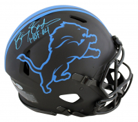 """Barry Sanders Signed Lions Full-Size Authentic On-Field Eclipse Alternate Speed Helmet Inscribed """"HOF 04"""" (Beckett COA & Schwartz COA) at PristineAuction.com"""