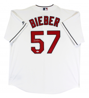 Shane Bieber Signed Indians Jersey (Beckett COA) at PristineAuction.com
