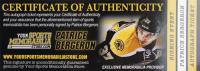 Patrice Bergeron Signed Official 2014 NHL Las Vegas Awards Hockey Puck (Bergeron COA & YSMS Hologram) at PristineAuction.com
