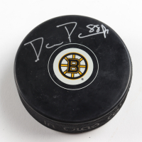 David Pastrnak Signed Bruins Logo Hockey Puck (Pastrnak COA & YSMS Hologram) at PristineAuction.com