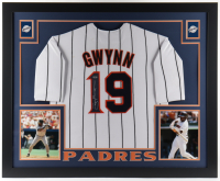 Tony Gwynn Signed 35.5x43.5 Custom Framed Jersey Display (Mounted Memories Hologram) (See Description) at PristineAuction.com