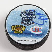 Brendan Gallagher Signed 2016 Winter Classic Logo Hockey Puck (Gallagher COA & YSMS Hologram) at PristineAuction.com