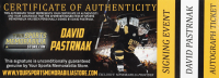 David Pastrnak Signed 2016 World Cup Logo Hockey Puck (Pastrnak COA & YSMS Hologram) at PristineAuction.com