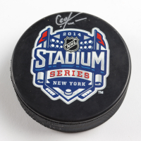 Chris Kreider Signed Rangers 2014 Stadium Series Logo Hockey Puck (Kreider COA & YSMS Hologram) at PristineAuction.com