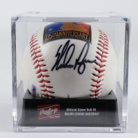 Nolan Ryan Signed 125th Anniversary Logo Baseball With DIsplay Case (PSA COA) at PristineAuction.com