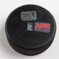 Patrice Bergeron Signed 2015 All-Star Game Logo Hockey Puck (Bergeron COA & YSMS Hologram) at PristineAuction.com