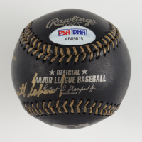 "Nolan Ryan Signed OML Black Leather Baseball Inscribed ""Don't Mess With Texas!"" WIth Display Case (PSA Hologram) at PristineAuction.com"