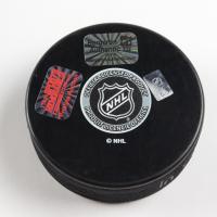 Patrice Bergeron Signed Bruins Logo Hockey Puck with Inscription (Bergeron COA & YSMS Hologram) at PristineAuction.com