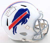 Jim Kelly Signed Bills Full-Size Speed Helmet (Beckett COA) at PristineAuction.com