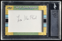 Lee MacPhail Signed 2020 Leaf Hall of Fame Baseball Cut Signature #TBA (Leaf Encapsulated) at PristineAuction.com