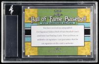 Lee MacPhail Signed 2020 Leaf Hall of Fame Baseball Cut Signature #TBA (Leaf Encapsulated) at PristineAuction.com