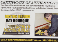 """Ray Bourque Signed Bruins """"Hockey Fights Cancer"""" Logo Hockey Puck (YSMS COA) at PristineAuction.com"""