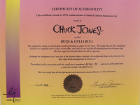 """Chuck Jones """"Bugs and Gulli-Bull"""" Sold Out Limited Edition 13x16 Artist Proof Animation Cel at PristineAuction.com"""
