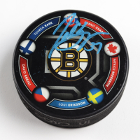 Patrice Bergeron Signed LE Bruins Logo Hockey Puck (Bergeron COA & YSMS Hologram) at PristineAuction.com