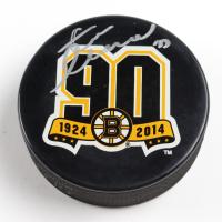 Zdeno Chara Signed Bruins 90th Season Logo Hockey Puck (YSMS COA & Chara Hologram) at PristineAuction.com