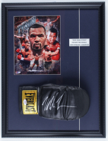Mike Tyson Signed 17x22 Custom Framed Everlast Boxing Glove Display With Photo (PSA COA) at PristineAuction.com