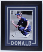 Luke Donald Signed 19x23 Custom Framed Photo Display (PSA COA) at PristineAuction.com