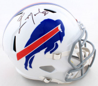 Eric Moulds Signed Bills Full-Size Speed Helmet (Beckett COA) at PristineAuction.com