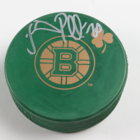 Daniel Paille Signed Bruins St. Patrick's Day Logo Hockey Puck (Your Sports Memorabilia Store COA) at PristineAuction.com