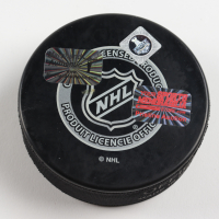"""Brad Marchand Signed 2013 Stanley Cup Playoffs Hockey Puck Insribed """"OT GWG"""" (Marchand COA & YSMS Hologram) at PristineAuction.com"""