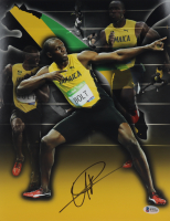 Usain Bolt Signed Team Jamaica 11x14 Photo (Beckett COA) at PristineAuction.com