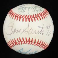 1996 Cubs ONL Baseball Team-Signed by (10) with Ron Santo, Luis Gonzalez, Scott Bullett, Turk Wendell, Terry Adams, Jaime Navarro (JSA ALOA) at PristineAuction.com