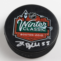 Johnny Boychuk Signed 2010 Winter Classic Logo Hockey Puck (Boychuk COA & YSMS Hologram) at PristineAuction.com