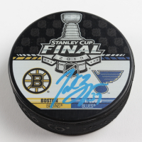 Patrice Bergeron Signed Bruins 2019 Stanley Cup Final Hockey Puck (Bergeron COA & YSMS Hologram) at PristineAuction.com