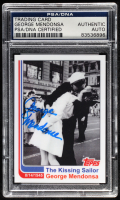 "George Mendonsa Signed LE ""The Kissing Sailor"" Trading Card (PSA Encapsulated) at PristineAuction.com"