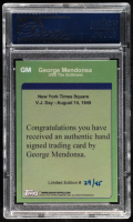 """George Mendonsa Signed LE """"The Kissing Sailor"""" Trading Card (PSA Encapsulated) at PristineAuction.com"""
