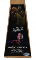 "Magic Johnson Signed 15"" Basketball Championship Trophy (Beckett COA) at PristineAuction.com"