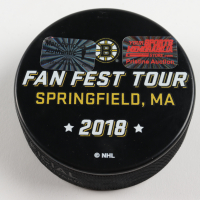 Brad Marchand Signed Bruins 2018 Massachusettes Fan Fest Hockey Puck (Marchand COA & YSMS Hologram) at PristineAuction.com