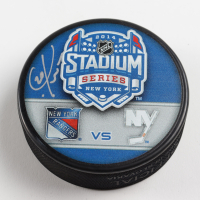 Chris Kreider Signed 2014 Rangers Stadium Series Hockey Puck (Kreider COA & YSMS Hologram) at PristineAuction.com