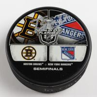 Torey Krug Signed Bruins 2013 Stanley Cup Playoffs Duel Logos Hockey Puck (Krug COA & YSMS Hologram) at PristineAuction.com