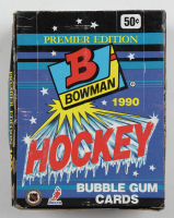 1990-91 Bowman Premier Edition Hockey Hobby Box of (36) Packs (See Description) at PristineAuction.com