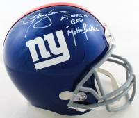 "Lawrence Taylor Signed Giants Full-Size Helmet Inscribed ""LT Was A Bad Mother F*****"" (JSA COA) (See Description) at PristineAuction.com"
