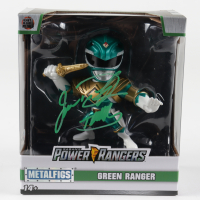 "Jason David Frank Signed Mighty Morphin Power Rangers Green Ranger Metalfigs Figurine Inscribed ""Tommy"" (Beckett COA) at PristineAuction.com"