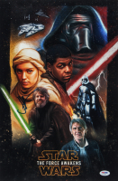 """J.J. Abrams Signed """"Star Wars: The Force Awakens"""" 12x18 Photo On Poster-Board (PSA COA) (See Description) at PristineAuction.com"""