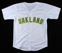"Jose Canseco Signed Jersey Inscribed ""86 AL ROY"" & ""88 AL MVP"" & ""40/40"" (Beckett COA) at PristineAuction.com"