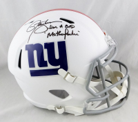 "Lawrence Taylor Signed Giants Matte White Full-Size Speed Helmet Inscribed ""I Am A Bad Mother F*****"" (JSA COA) at PristineAuction.com"