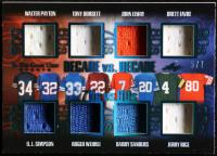 2020 ITG Used Sports Decade VS Decade Memorabilia Platinum Blue Spectrum #DD07 Walter Payton / O.J. Simpson / Tony Dorsett / Roger Wehrli / John Elway / Barry Sanders / Brett Favre / Jerry Rice at PristineAuction.com