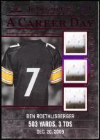 Ben Roethlisberger 2020 ITG Used Sports A Career Day Triple Memorabilia Magenta Spectrum #CD03 at PristineAuction.com