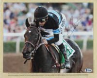 Mike Smith Signed 11x13.5 Photo with Shared Belief (Beckett COA) (See Description) at PristineAuction.com
