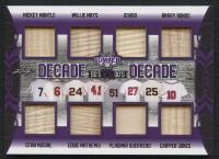 2021 Leaf Lumber Kings Decade vs Decade 8x Bat Relic Mickey Mantle, Willie Mays, Ichiro, Barry Bonds, Stan Musial, Eddie Mathews, Vladimir Guerrero, Chipper Jones #3/9 at PristineAuction.com