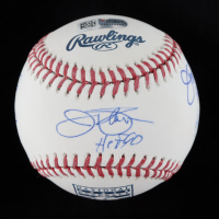 OML Hall Of Fame Logo Baseball Signed by (5) with Jim Palmer, Jim Bunning, Gaylord Perry with Multiple Inscriptions (Fanatics Hologram & MLB Hologram) at PristineAuction.com