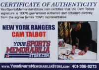 Cam Talbot Signed Rangers Goalie Mini Stick (Talbot COA) (See Description) at PristineAuction.com
